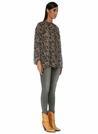 Etoile Isabel Marant Etoile Isabel Marant Liliana  Çiçekli Bağcık Detaylı Bluz 101550504 Renkli